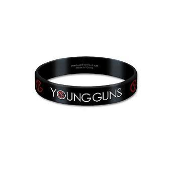 Offisiell Young Guns armbånd logo Bones nye 17mm gummi