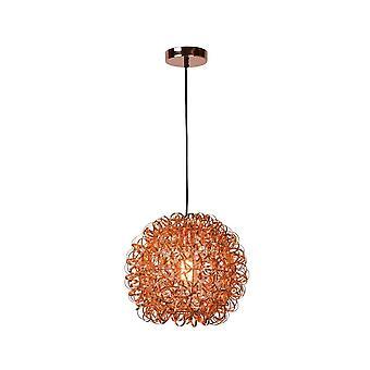 Lucide Noon Modern Round Aluminum Copper Pendant Light