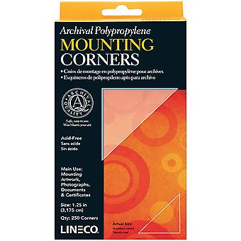 Lineco Polypropylene Photo Mounting Corners 256/Pkg-Clear 1.25