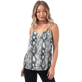 Womens Only Snake Print Cami Top In Cloud Dancer