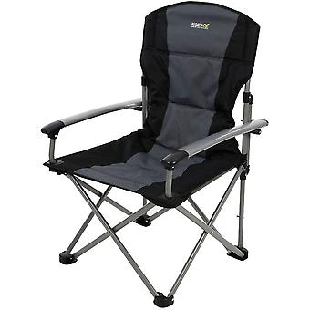 Regatta Forza Folding Camping Chair Black/Seal Grey