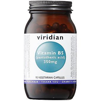 Viridian Vitamin B5 (Pantothenic Acid) 350mg  Veg Caps 90 (202)