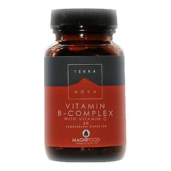 Terranova B-Komplex mit Vitamin C Vegicaps 50 (T0196)