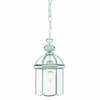 1 luz do teto pingente lanterna cromado