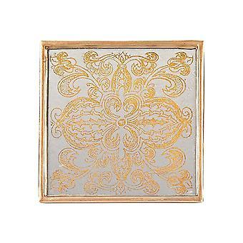 Manta gold  4 pc coaster set badash crystal rc4-mg