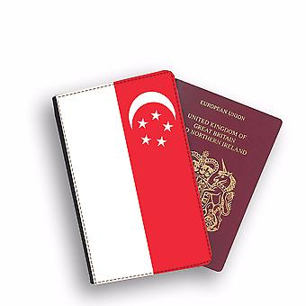 SINGAPORE Flag Passport Holder Style Case Cover Protective Wallet Flags design
