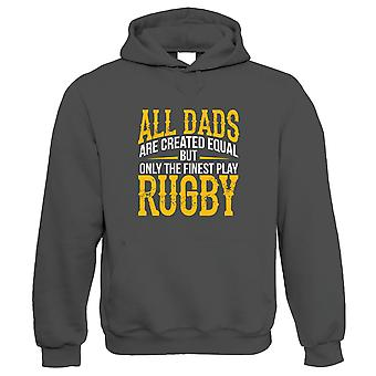 Finest Dads Play Rugby Sports Hoodie | Football Rugby Hockey Basketball Baseball Boxing | Ideal Top Best Special No1 Father Husband Grandad | Fathers Day Gift Him Dad