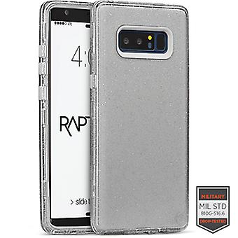 SS Note 8 - Rapture Clear Silver Glitter/Clear