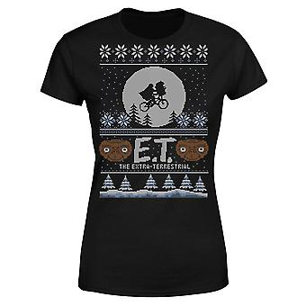 E.T. the Extra-Terrestrial Christmas Women's T-Shirt - Black