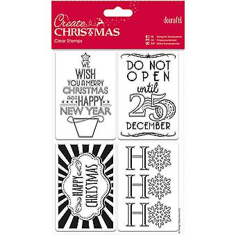 Papermania Create Christmas Mini Clear Stamps 135mm X 195mm-Gift Tags PM907948