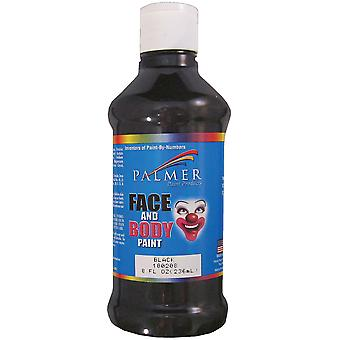 Face Paint 8 Ounces Black 8Fc 18020