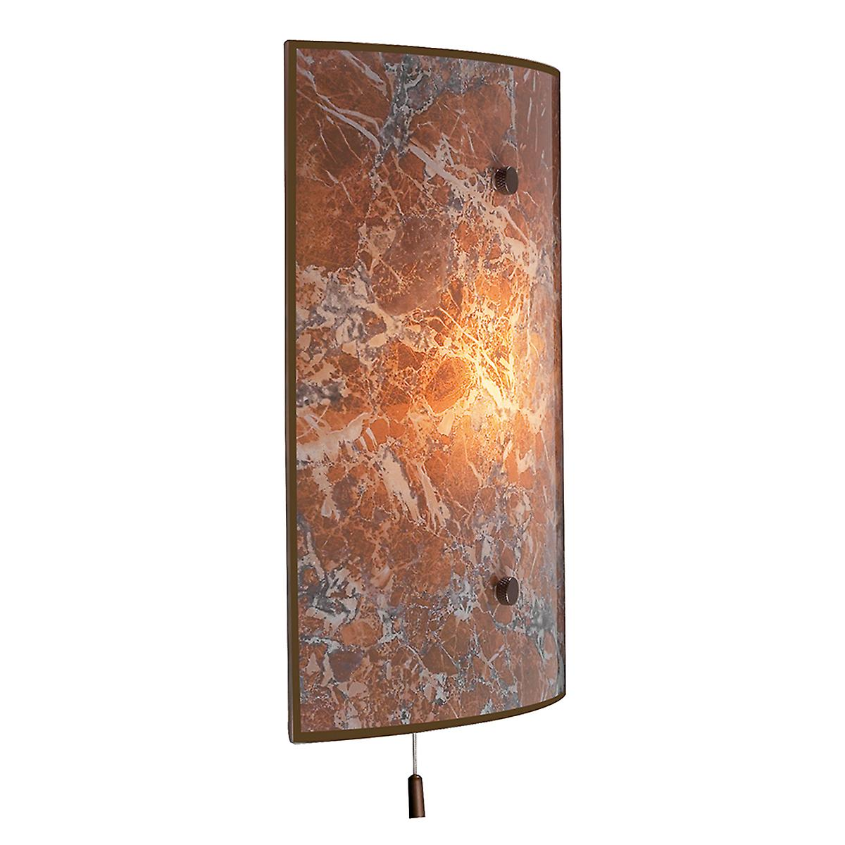 David Hunt MGW4 Savoy Traditional Wall Light With Light Marble Glass