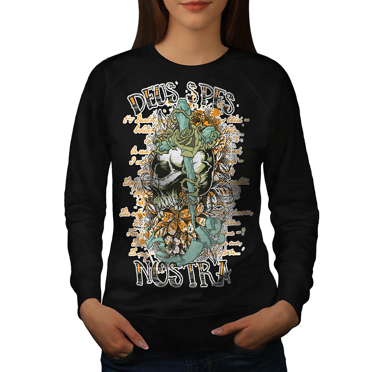 Monster Skull Curse Death Land Women Black Sweatshirt | Wellcoda