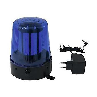 LED Rotating police beacon Eurolite 108 LEDs blau classics 4 W Blue No. of bulbs: 108