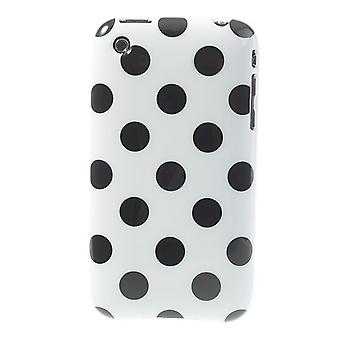 Protective cover for phone Apple iPhone 3 3 G 3GS white/black