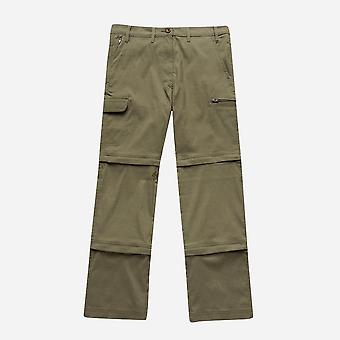 New Peter Storm Women's Stretch Double Zip Off Trousers Short Khaki