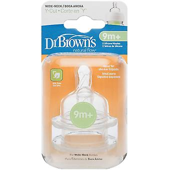 Dr Brown's Options Wide Necked Teats - Y-Cut
