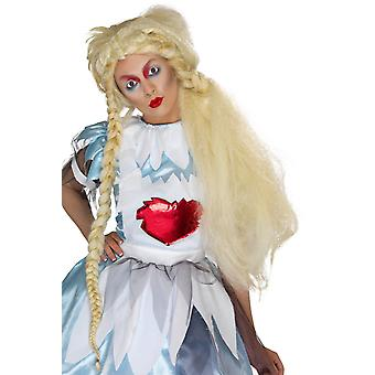 Smiffys Alice In Blunderland Wig Long Plaits Blonde Womens Fancy Dress Accessory