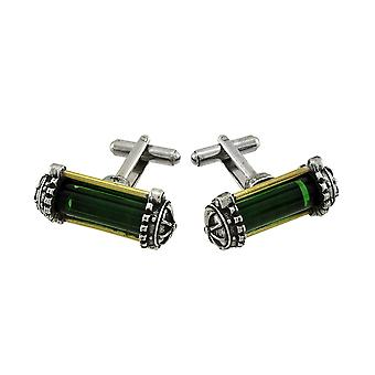 Steampunk Miasmatic Reactor Core Cufflinks