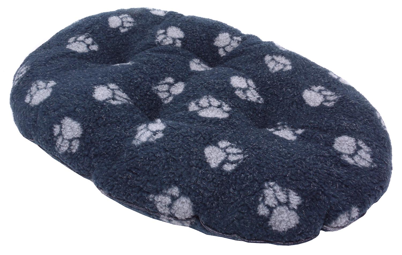 Fleece Paw Navy Fibre Bed Cover Size 4 92x127cm