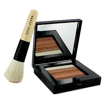 Bobbi Brown Bronze Shimmer Brick Set : Bronze Shimmer Brick Compact + visage Mini Blender brosse 2P (édition limitée).