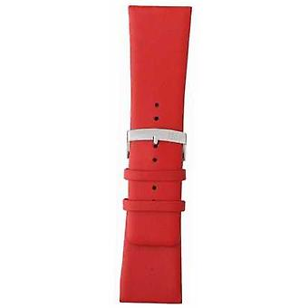 Morellato Strap Only - Large Napa Leather Red 18mm A01X3076875083CR18 Watch