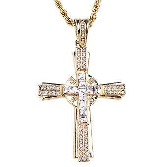 ICED OUT LA crew bling cross gold