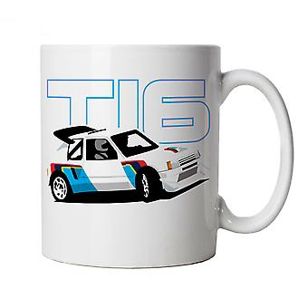205 T16, Classic Group B Rally Car Mug