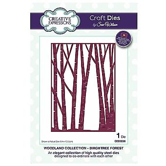 Expressions créatives Sue Wilson Festive Woodland Collection Birch Tree Forest