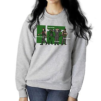 Archer forvirring superhelte grønne spion Zombie kvinders Sweatshirt
