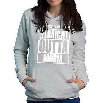Straight Outta Moria Lord Of The Rings Women's Hooded Sweatshirt