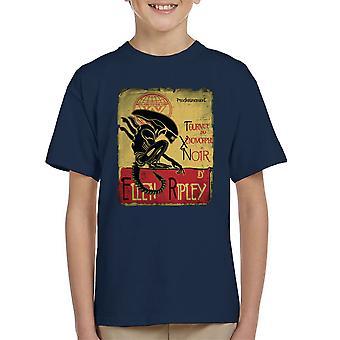 Tournee Du Xenomorphe Noir D Ellen Ripley Alien Kid's T-Shirt