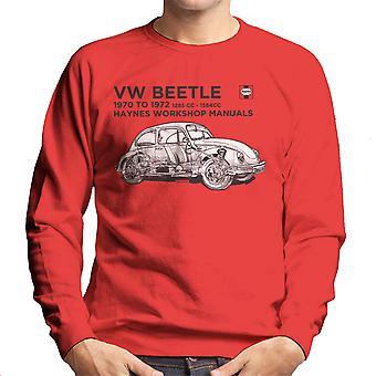 Haynes Workshop handmatige VW kever zwarte mannen 70 tot en met 72 Sweatshirt