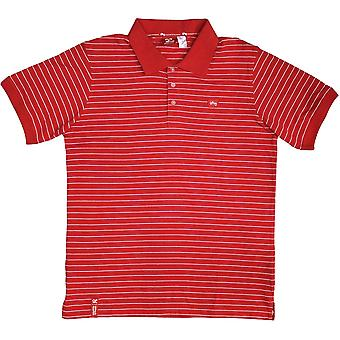 Lrg Core Collection Striped Polo Shirt Red