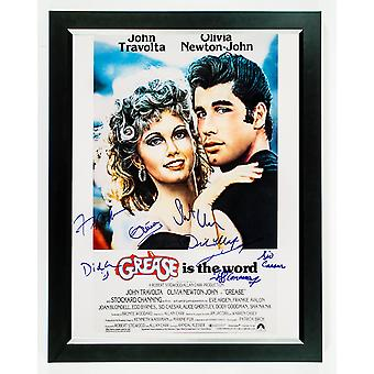 Grease - signerade filmaffisch