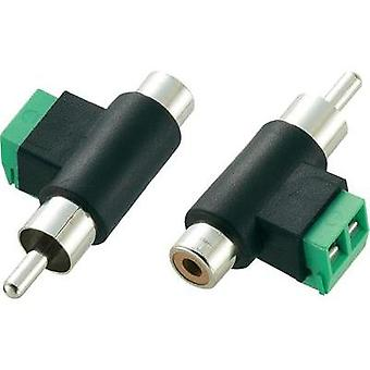 RCA adapter RCA plug (phono) - RCA socket (phono), Screws Conrad Components1 pc(s)