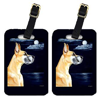 Carolines Treasures  7100BT Pair of 2 Fawn Great Dane in the Moonlight Luggage T