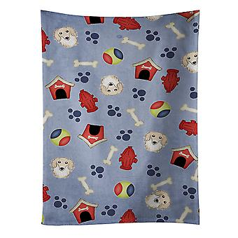 Dog House Collection Longhair Creme Dachshund Kitchen Towel