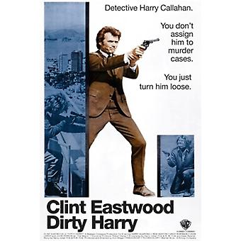 Dirty Harry - Clint Eastwood Poster Poster Print