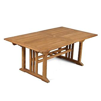 BrackenStyle Berrington Extending Rectangular Seat Teak Table