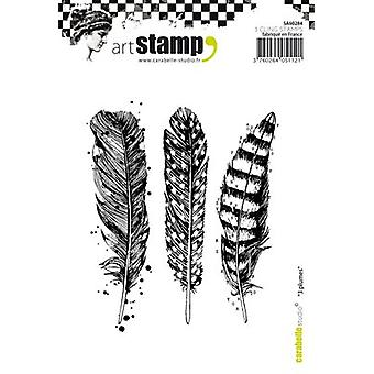 Carabelle Studio Cling Stamp A6-Feathers SA60284