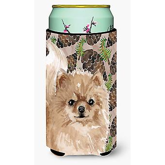 Pomeranian Pine Cones Tall Boy Beverage Insulator Hugger
