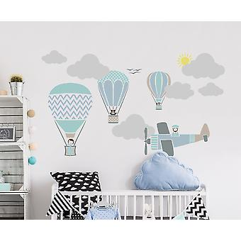 Balloon Race Set Of 8 Stencils