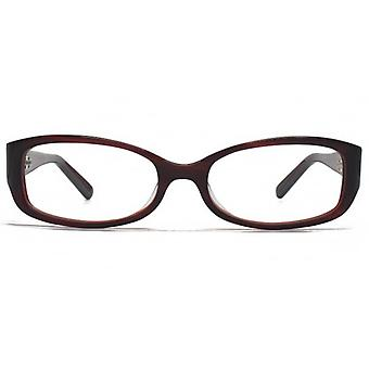 Carvela Oval Style Glasses In Red