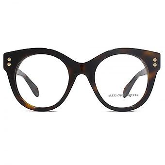 Alexander McQueen Edge AM0035 Glasses In Havana