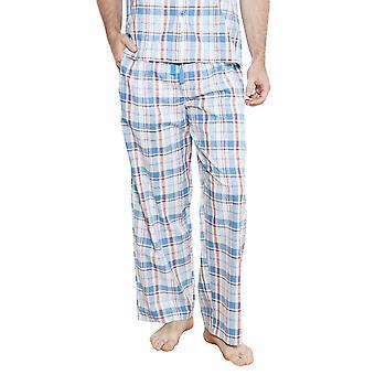 Cyberjammies 6222 мужчин Джеймс синий флажок Pajama брюки