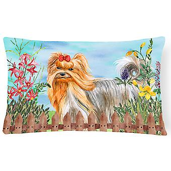 Yorkshire Terrier Spring Canvas Fabric Decorative Pillow