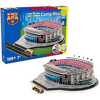 Barcelona Camp Nou voetbal stadion 3D puzzel