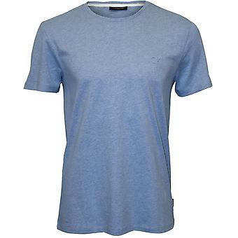 Calvin Klein Jari Embossed Logo Crew-Neck T-Shirt, Sky Blue