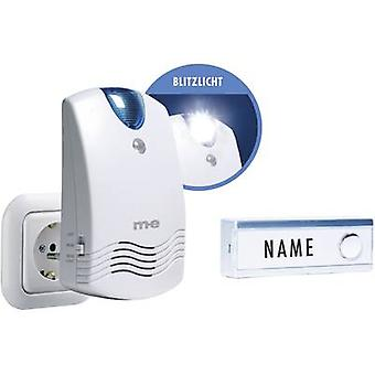 Wireless door bell Complete set with nameplate m-e modern-electronics FG-1.1